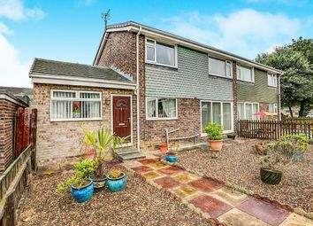 Thumbnail 3 bed semi-detached house for sale in Sheringham Drive, Cramlington