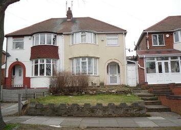 Thumbnail 3 bed semi-detached house to rent in Warren Hill Road, Birmingham