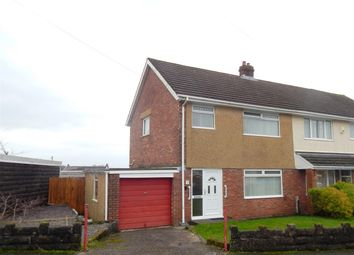 Thumbnail 3 bed semi-detached house for sale in Plover Close, Treboeth, Swansea