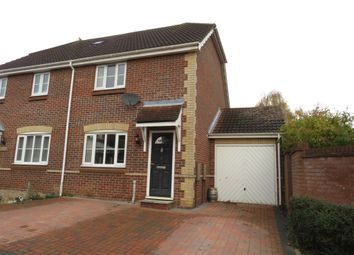 Thumbnail 2 bed semi-detached house for sale in Worcester Close, Bury St. Edmunds