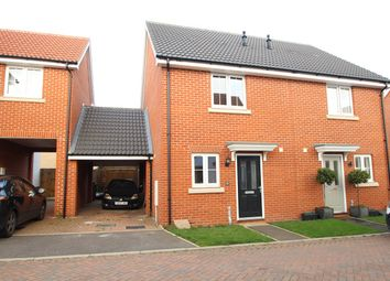 Thumbnail 2 bed semi-detached house for sale in Crossbill Road, Stowmarket