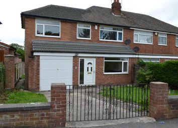 Thumbnail 3 bed semi-detached house to rent in Granville Road, Cheadle Hulme, Stockport
