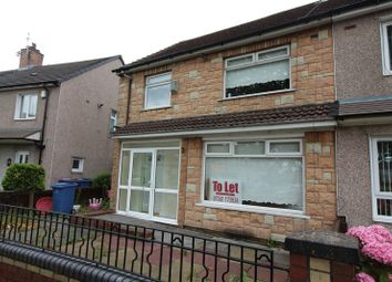 Thumbnail 3 bedroom semi-detached house to rent in Crantock Close, West Derby, Liverpool