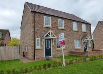 Thumbnail 3 bed semi-detached house for sale in Meadow View, Blyton, Gainsborough