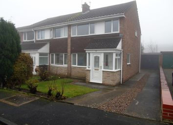 Thumbnail 3 bed semi-detached house for sale in Benfield Close, Shotley Bridge, Consett