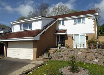 Thumbnail 4 bed detached house for sale in Dranllwyn Close, Machen, Caerphilly
