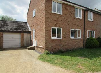 Thumbnail 3 bed semi-detached house to rent in Manor Close, Buckden, St. Neots