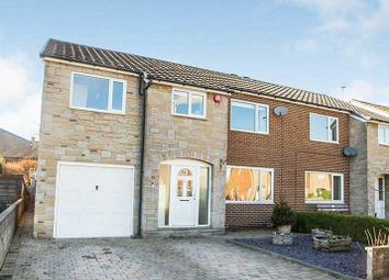 Thumbnail 5 bed semi-detached house for sale in Westfield Gardens, Halifax, West Yorkshire