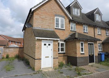Thumbnail 2 bedroom end terrace house to rent in Darter Close, Ipswich