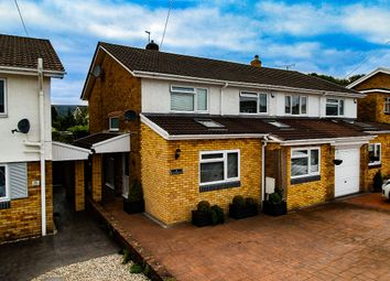 Thumbnail 3 bed semi-detached house for sale in Llandegveth Close, Croesyceiliog, Cwmbran