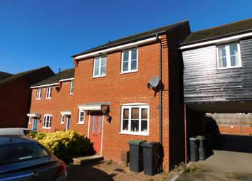 Thumbnail 3 bed terraced house for sale in Plover Close, Stowmarket