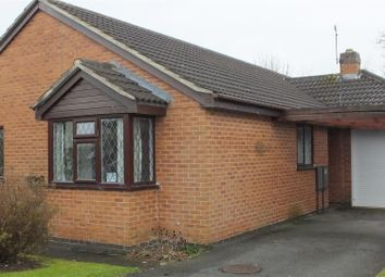 Thumbnail 3 bed detached bungalow for sale in Kedleston Close, Stretton, Burton-On-Trent