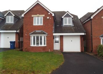 Thumbnail 4 bed detached house for sale in Wrens Croft, Cannock, Staffordshire, West Midlands