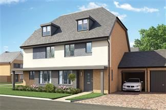 Thumbnail 4 bedroom end terrace house for sale in Bellway At Qeii, Howlands, Welwyn Garden City