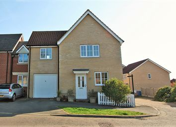 Thumbnail 3 bed link-detached house for sale in Crown Field Road, Glemsford