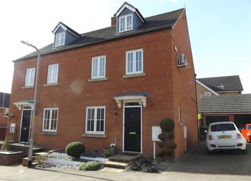 Thumbnail 4 bed town house to rent in Briarwood Way, Wollaston, Northamptonshire