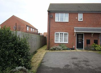 Thumbnail 3 bed end terrace house for sale in Moorhen Close, Market Rasen