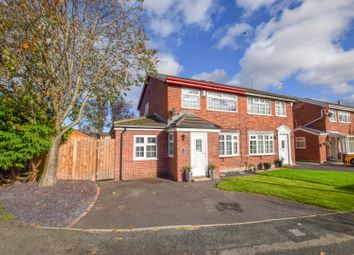 Thumbnail 3 bed semi-detached house for sale in Denny Close, Upton