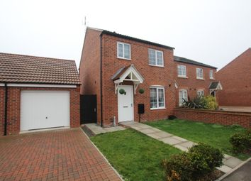 Thumbnail 3 bed semi-detached house for sale in Lockhart Close, Leicester Forest East, Leicester