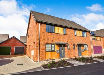 Thumbnail 3 bed semi-detached house for sale in Willow Herb Drive, Swaffham