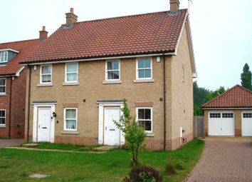 Thumbnail 2 bed semi-detached house to rent in Bradfield Drive, Martham, Great Yarmouth