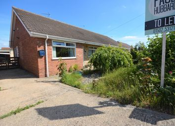 Thumbnail 2 bed semi-detached bungalow to rent in Newlands Close, Pakefield, Lowestoft, Suffolk