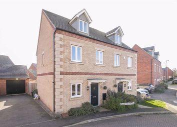 Thumbnail 3 bed town house to rent in Wensleydale Crescent, Oakridge Park, Milton Keynes