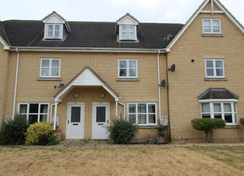 Thumbnail 4 bed terraced house to rent in Ermine Street North, Papworth Everard, Cambridge