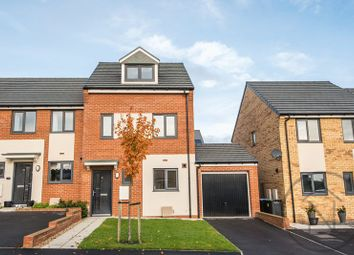 Thumbnail 3 bed town house for sale in Wellhouse Road, Cobblers Hall, Newton Aycliffe