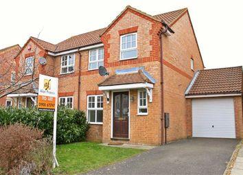 Thumbnail 3 bed semi-detached house to rent in Wardle Place, Oldbrook, Milton Keynes, Bucks