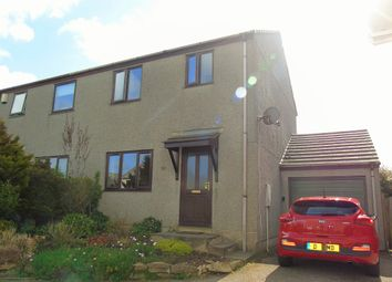 Thumbnail 3 bed semi-detached house for sale in Collygree Parc, Goldsithney, Penzance, Cornwall.
