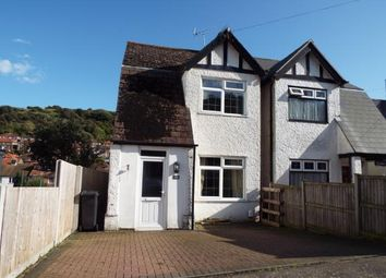 Thumbnail 3 bed semi-detached house for sale in Folkestone Road, Dover, Kent