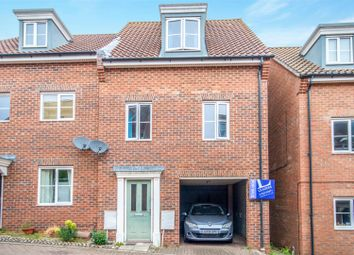 Thumbnail 3 bed town house for sale in Attoe Walk, Norwich