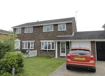Thumbnail 3 bed semi-detached house for sale in Crowson Way, Deeping St. James, Peterborough