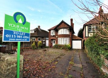 Thumbnail 3 bed detached house to rent in Wollaton Road, Wollaton, Nottingham