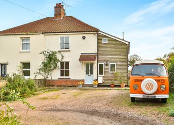 Thumbnail 3 bed semi-detached house for sale in The Street, Wramplingham, Wymondham