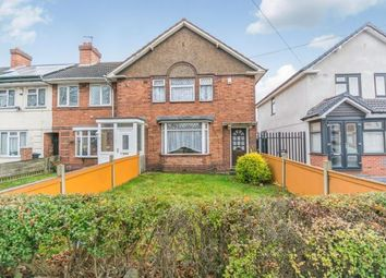 Thumbnail 3 bedroom end terrace house for sale in Fordrough Lane, Bordesley Green, Birmingham, West Midlands