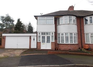 Thumbnail 3 bed semi-detached house for sale in Winstanley Road, Stechford, Birmingham