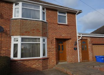 Thumbnail 3 bed semi-detached house to rent in Queens Drive, Halesworth