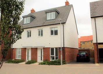 Thumbnail 3 bed semi-detached house for sale in Desmond Hubble Way, Ashford