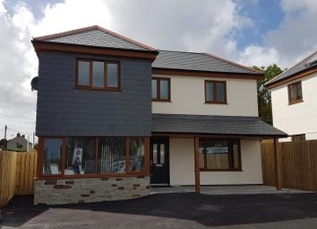 Thumbnail 4 bed detached house for sale in Beacon Road, Summercourt, Newquay