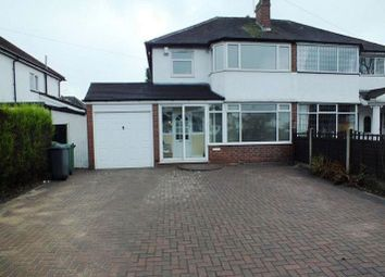 Thumbnail 3 bed semi-detached house to rent in Haslucks Green Road, Shirley, Solihull
