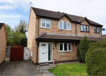 Thumbnail 3 bed semi-detached house for sale in Foxton Lock Close, Wigston