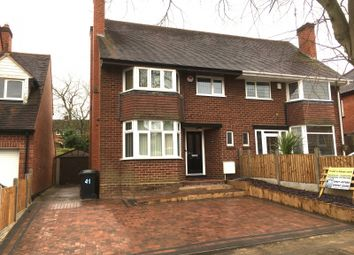 Thumbnail 3 bed semi-detached house to rent in Oakenshaw Road, Redditch