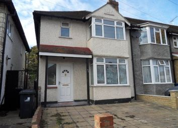 Thumbnail 3 bed property to rent in Verulam Road, Greenford