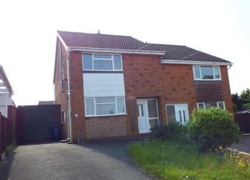 Thumbnail 3 bed semi-detached house for sale in Melrose Drive, Hednesford, Cannock, Staffordshire