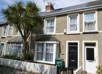 Thumbnail 3 bed terraced house for sale in Ennors Road, Newquay, Cornwall