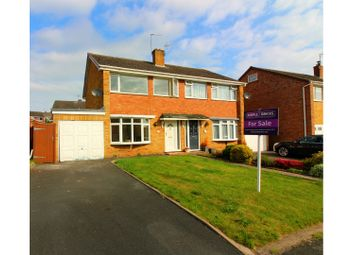 Thumbnail 3 bed semi-detached house for sale in Goldstone Drive, Bridgnorth