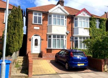 Thumbnail 3 bedroom semi-detached house to rent in Woodbridge Road, Ipswich
