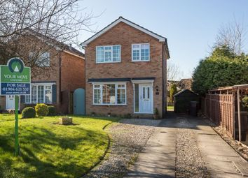 Thumbnail 3 bed detached house for sale in Knapton Close, Strensall, York